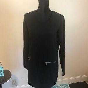 MICHAEL KORS Black angora blend tunic or dress